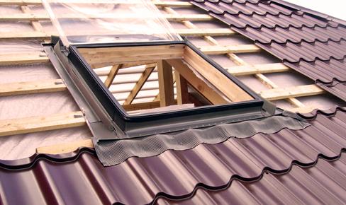 монтаж окон и дверей, roof window mounting