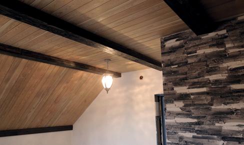 отделка потолков, ceiling clapboard mounting