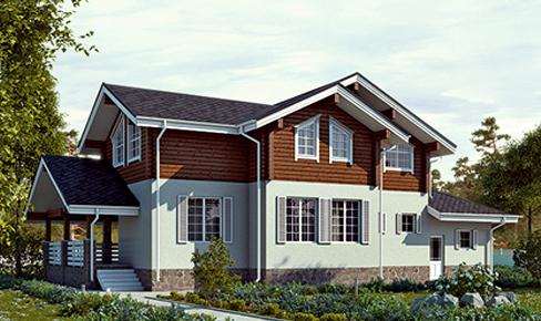 деревянный дом 275