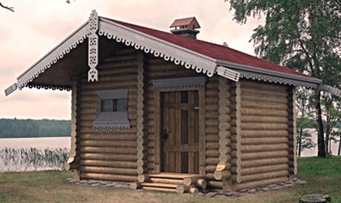 Деревянная баня 15кв.м