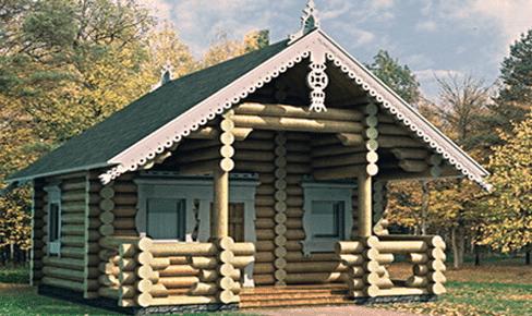 Деревянная баня 20 кв.м