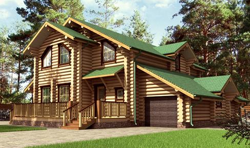 house 255 - Деревянный дом 255 кв.м