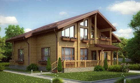 Деревянный дом 282 кв.м