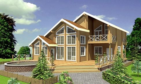 Деревянный дом 300 кв.м