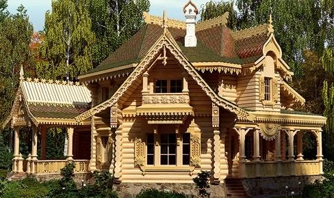 Деревянный дом 382 кв.м