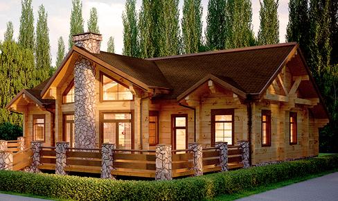 Деревянный дом 389 кв.м