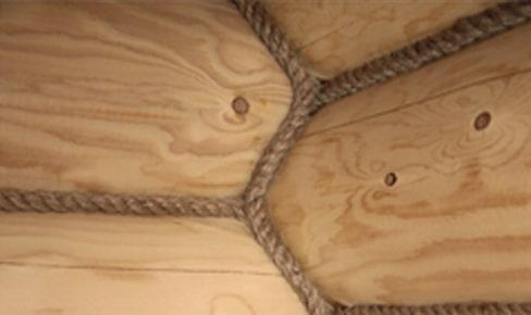 Отделка стен декорированной веревкой