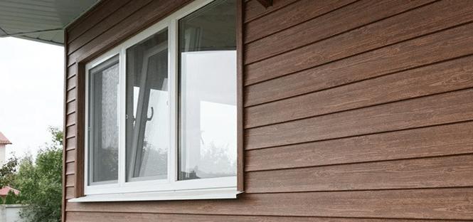 Сайдинг фасада деревянного дома